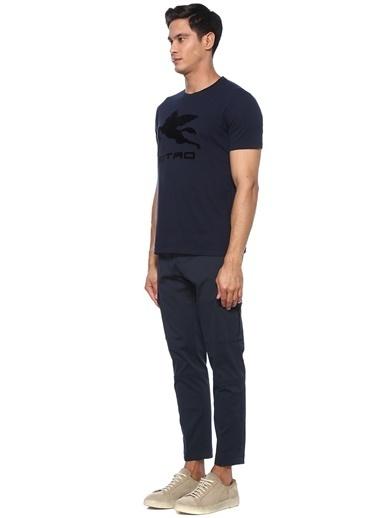 Etro Etro  Kabartmalı Logolu Basic T-shirt 101552743 Mavi